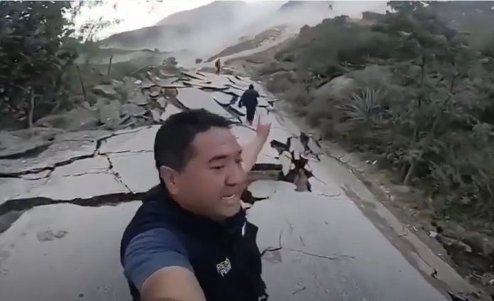 Giant Landslide in Peru